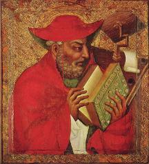 Obraz sv. Jeronýma od Mistra Theodorika v kapli sv. Kříže